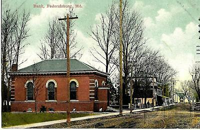 1912 View- Bank in Federalsburg, Maryland  MD