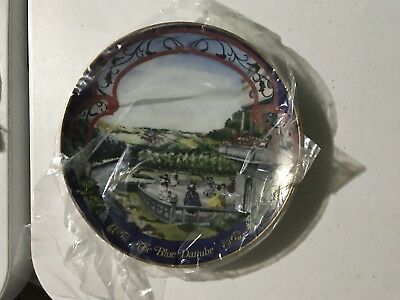 Blue Danube Collectors Plate,(AS IT WAS 49 YRS AGO IN ORGINAL BX W/Prs)FREE SHIP