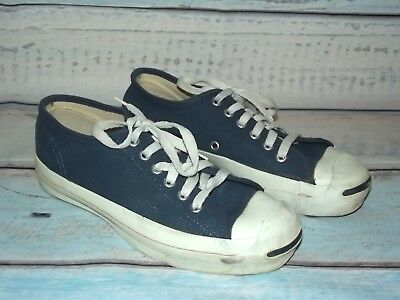 6213122099e21e CONVERSE Jack Purcell Vtg MADE IN USA Blue Canvas Sneakers Womens Size 7  Mens 5