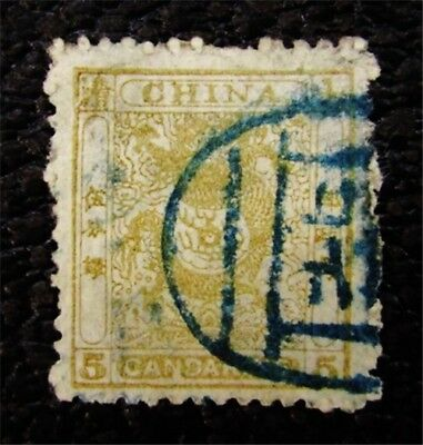 nystamps China Dragon Stamp # 12a Used $170