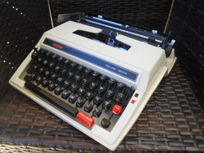 Vintage Brother Deluxe 760 TR portable typewriter & case Ex. Cond. 1970s
