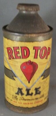 Red Top Ale cone top beer can, Ohio