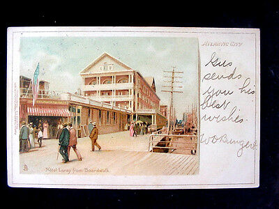 c1905 Hotel Luray from Boardwalk Atlantic City NJ chromolithograph postcard Tuck