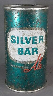 Green Silver Bar Ale flat top beer can, Florida