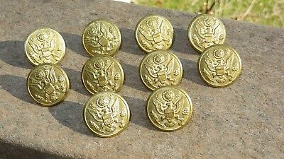WW2 US Army Military Large Uniform Button Lot