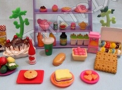 Littlest Pet Shop Lot of 10 Random Sweets Food Cup Cake Accessories and Gift Bag