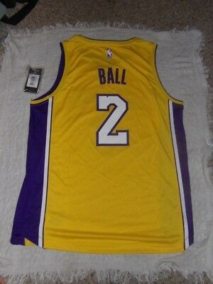 Fanatics Branded Lonzo Ball Los Angeles Lakers Gold Fast Break Replica  Jersey 14333aac1