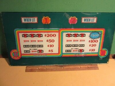 HILTON CASINO Slot Machine PAY OUT BELLY GLASS - 17 x 8 1/2""