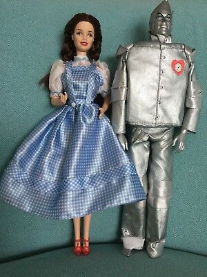 Barbie Dolls, Dorothy Wizard Of Oz And Tinman