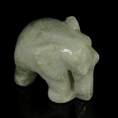51.20 Ct Natural Huge UNHEATED Green JADE ELEPHANT Carveo Gem @ SEE Video !!