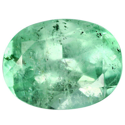 5.04Ct Superior Oval cut 13 x 10 mm 100% Natural Neon Green Colombian Emerald