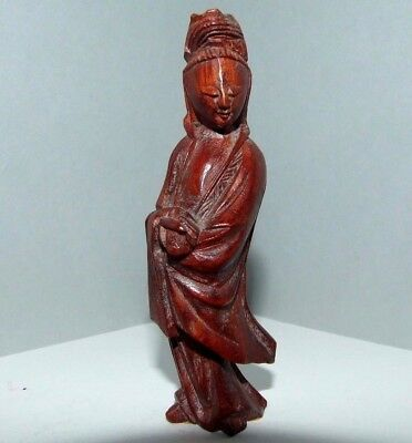 VINTAGE / ANTIQUE ORIENTAL CHINESE TREEN WOODEN FIGURE. (b)