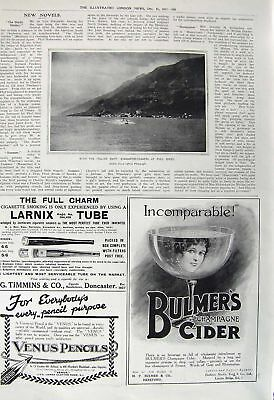 Old Vintage Print 1917 Italian Navy Submarine Chasers War Bulmers Cider 20th