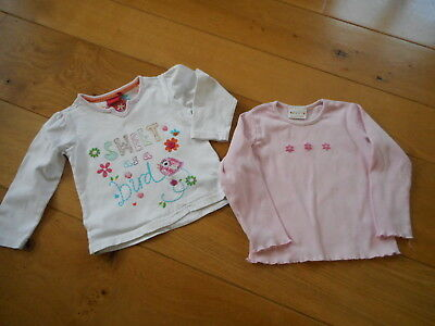 Girls Pair of Long Sleeved Tops age 18-24 months by NEXT & Tiger Lily