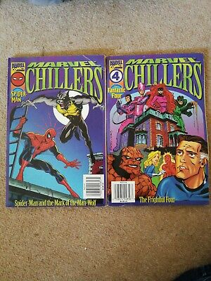 Marvel Chillers + Posters fantastic 4 and spider man