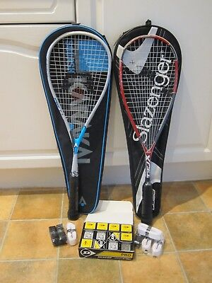 Used Squash Rackets & New Accessories