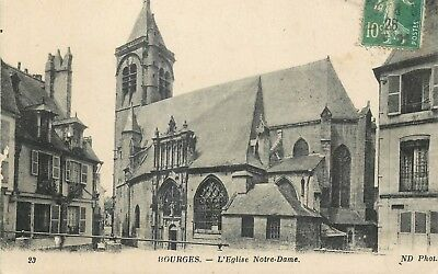 Cp Bourges Eglise Notre-Dame Nd - B 5007