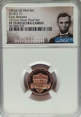 NGC REGISTRY PF70 2018-S Proof LINCOLN Shield Cent Penny Registry Coin US Mint *