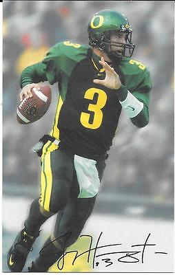 2003 Oregon DUCKS Joey HARRINGTON Oversize FOOTBALL CARD Auto Request Reply 3x5