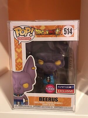 Funko Pop! Dragon Ball Super Flocked Beerus #514 Funimation W. PROTECTOR
