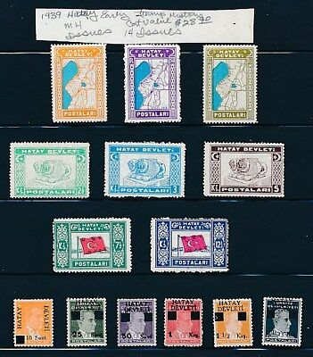 Own Part Of Hatay Classic Postal Stamp History1 Issues Cat Value $1 Shown