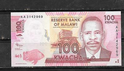 MALAWI #59a 2012 100 KWACHA MINT CRISP BANKNOTE PAPER MONEY CURRENCY BILL NOTE