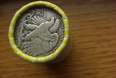 One Unsearched Roll Of Kennedy Half Dollars Silver End Walking Liberty 90% Ender