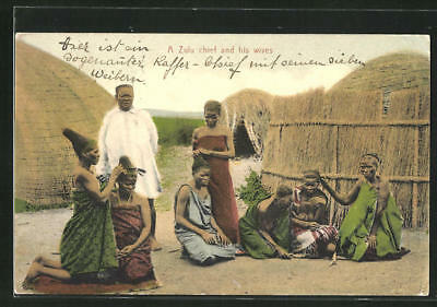 CPA A Zulu chief and his wives
