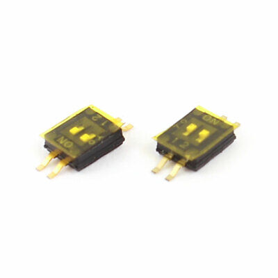 2 PC 4 borne 2 Positions espacement 1,27mm PCB SMT SMD switch DIP