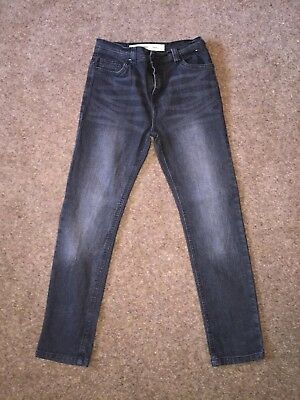 Denim & Co Boys Skinny Black/charcoal Jeans Age 11-12 VGC