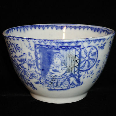 Staffordshire Child Flow Blue Waste Bowl Little May Cat Dog Pet Allerton 1880