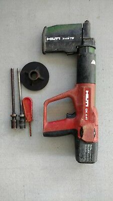 Hilti DX A41 Powder Actuated Nail Gun w/ X-AM72 & Few Extras Industrial Fastener