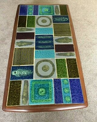Vintage Retro Mid Century Abstract Tile Top Coffee Table