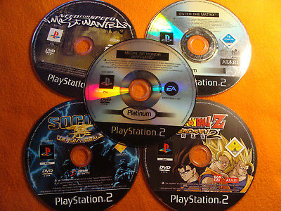 Lot of five untested Sony PlayStation 2 games