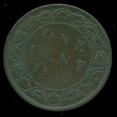 1894 Canada Large Cent, Queen Victoria Portrait  PP102