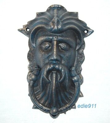 GREEN MAN DOOR KNOCKER 10 x 7 Cast Iron CELTIC LEAF GOD ~ NEW ~ Bronzed finish