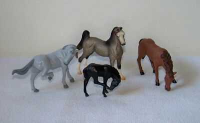 Lot of 4 Miniature Toy Horse Figures (2)1999 BREYER REEVES & (2) Unmarked