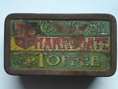 alte leere Blechdose - The Kiosk Harrogate Toffee - TRADE MARK C.E. Taylor & Co.