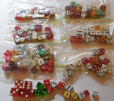 OLD VTG PLAYING DICE CASINO GAME COLLECTION MIXED WOOD LUCITE LOT OF 130 Plus