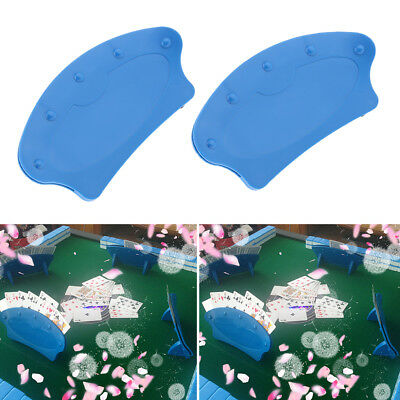 2pcs Blue Hand Free Playing Card Holder For Senior Elderly Adults Disabled