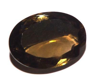 19.95 cts Smoky Quartz 22 x 16 mm Oval Shape Faceted Gemstone #dsq1220