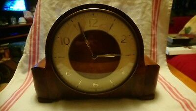 Antique Smiths Mantel Clock For Spares Or Repairs