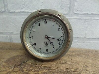 Vintage Smiths Car Dash Board Time Clock For Repair / Spares. (Missing Winder)