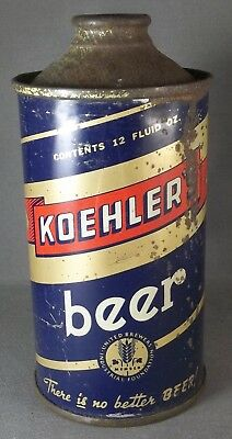 Koehler  cone top beer can - Low Pro, IRTP, PA