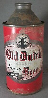 Old Dutch Premium Lager Beer cone top beer can
