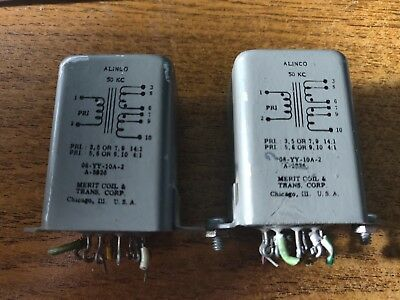 MATCHED PAIR MERIT ALINCO 50Khz AUDIO TRANSFORMERS