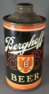 Berghoff 1887 Beer LP cone top beer can, Indiana