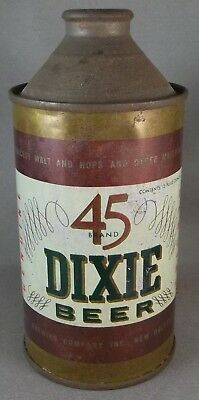 Dixie 45 Beer cone top beer can Louisiana