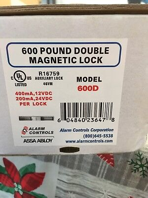 Alarm Controls 600lb Double Magnetic Lock