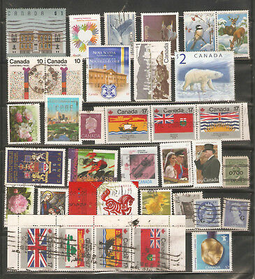 a stock page of recent used stamps from Canada.(Cda-22)